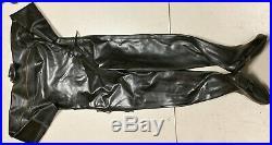 Ultra Rare Viking Professional Black Heavy Black Rubber Dry Suit Scuba Diving
