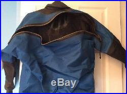 Used scuba diving dry suit by Aquatek Apeks inflator and cuff dump size XXL