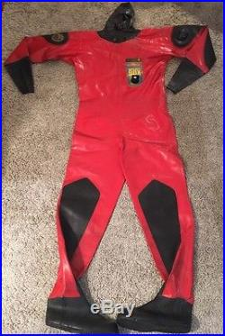 VIKING Sport 90X Diving Dry Suit, Size S With Other Scuba Equipment