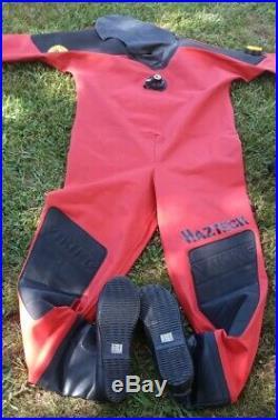 Viking Haztech Size 02 Large Wide Scuba Diving Dive Drysuit Never Used