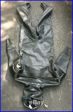 Viking Professional 1000 Heavy Rubber Pro Dry Suit Scuba Diving Size 02 Wide