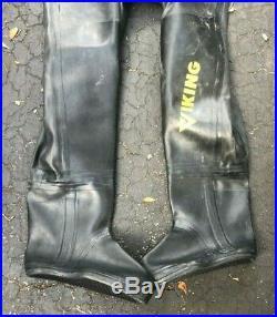 Viking Professional 1000 Heavy Rubber Pro Dry Suit Scuba Diving Size 04 DWide
