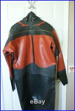Vintage Gates Pro-AM 1050 Commercial Vulcanized Rubber Diving Drysuit Scuba XL