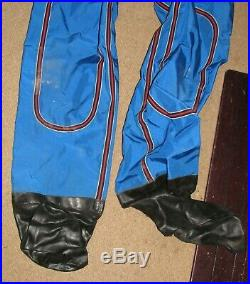 Vintage Imperial Dry Suit Scuba Diving Red Blue Large Needs Repairing