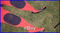 Vintage Poseidon Uni-Suit SCUBA Diving Dry Suit Drysuit Orange Large