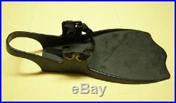 Vintage SCUBA Diving Drysuit Fins Flexible Plastic Single Piece Nylon Straps