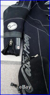 Waterproof Draco 3.5mm Neoprene Scuba Diving Dry Suit XL with Hood & Bag