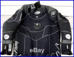 Waterproof Draco 3.5mm Neoprene Scuba Diving Dry Suit XL with Hood & Bag (17c)