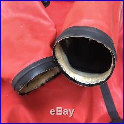 Whites Hazmat Public Safety Drysuit Scuba Dive sz Medium King Red Black with Bag