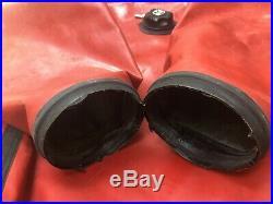 Whites Hazmat Public Safety Drysuit Scuba Dive sz X-Large King Red Black