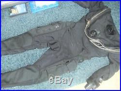 Whites fusion tactical non mag scuba dive diving drysuit l/xl