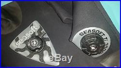 Women's Seasoft Ti 3000 Professional Scuba Diving Drysuit SI Tech Sweden