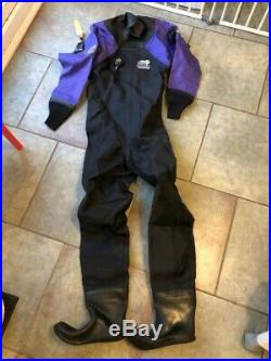 Womens Otter SCUBA Dry Suit set with thermal Under Suit and Under Boots included